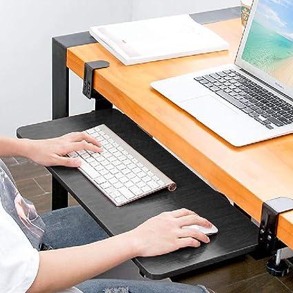 Bandeja ergonómica para teclado debajo del escritorio (negro)