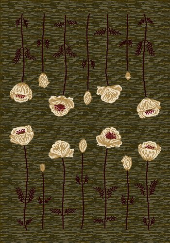 Innovation Poppy Olive Rug Rug Size: Oval 5'4