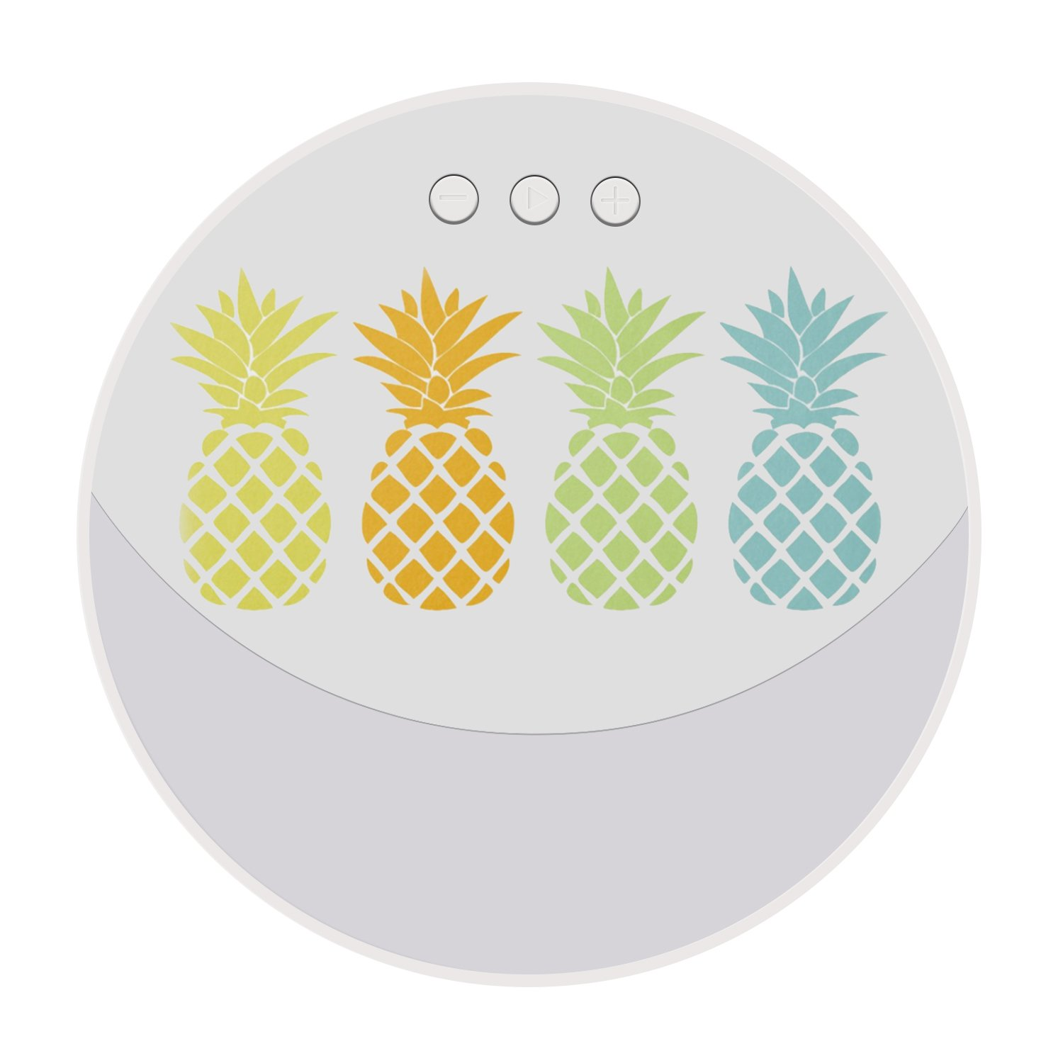 Wireless Bluetooth Speaker, Ultra Portable Full-Body Stereo Speaker Bluetooth 4.2 with Powerful Volume for iPhone /iPod/iPad/Phones and Tablets - Colorful Pineapples