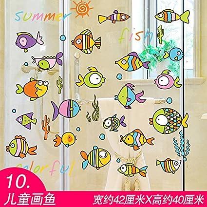 GOUZI Carteles seaside deriva del color botellas de niños muros decorados con mosaico Mediterráneo 10 dibujos