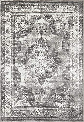 Unique Loom Sofia Collection Traditional Vintage Gray Area Rug (6' x 9')