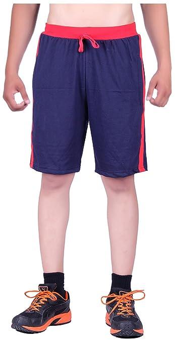 DFH Men's Cotton Shorts (Blue) Men's Shorts at amazon