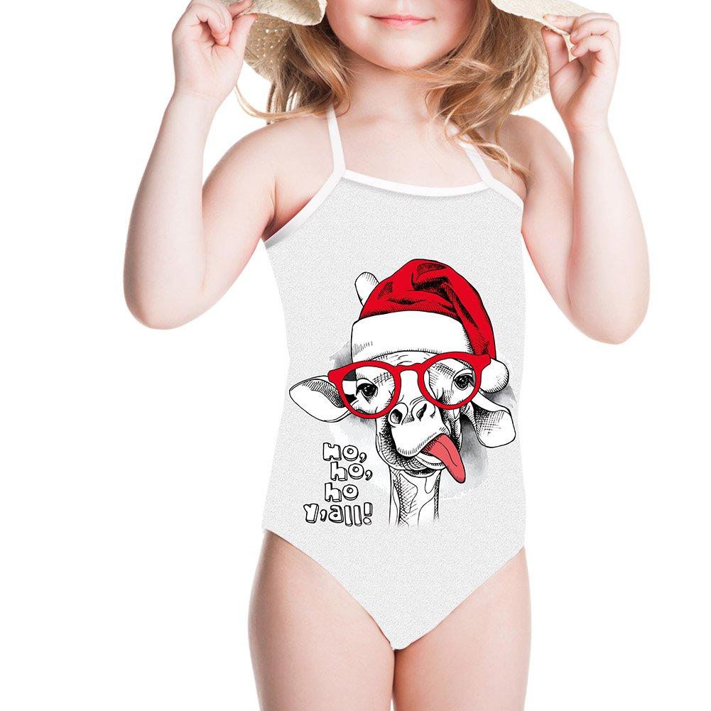 Ertyz Graffiti Kid Swimsuit Girls Surf Top for Children Bikini Sports Swimwear (Graffiti with Hat and Glasses, 3-4T)