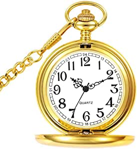 Reloj de Bolsillo para Hombre con Cadena, Colgante de