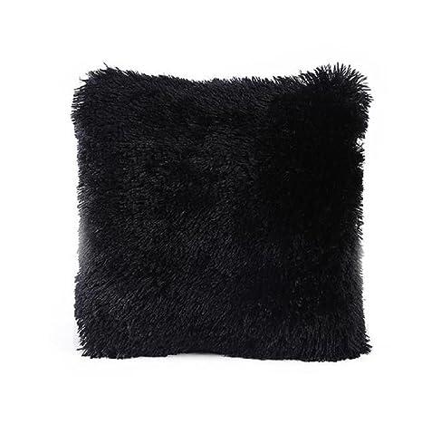 funda cojines vintage Sannysis Funda de almohada para navidad decoracion cojines (Negro)