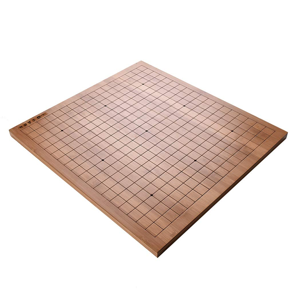 Nwn 2cm Bamboo Go Table Board Goban - 0.8 of an Inch Thick Double-sided Dual-use Go/Checkerboard njsdih