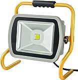 Brennenstuhl Mobile Chip-LED-Leuchte/LED Strahler außen und innen (Außenstrahler 80 Watt, Baustrahler IP65, LED Fluter Tageslicht) Farbe: silber/gelb