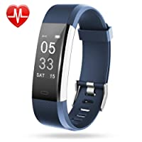 Lintelek Fitness Tracker, Orologio Cardiofrequenzimetro Braccialetto Activity Tracker,GPS Corsa,Smart watch per iOS e Android