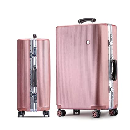 Amazon.com: Qzny Suitcase, New Trolley Case Womens Suitcase Travel Bag Durable Hardshell Luggage Holdall Bag Large Capacity Holiday Business Trips (Color ...