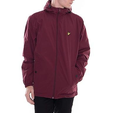Lyle & Scott Microfleece Lined Zip Through Jacket Claret Jug-M