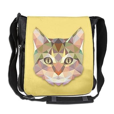 good Crystal Cat Design Custom Unisex Polyester Fiber Messenger Bag  Cross-Body Bag Daypack Bag 28b09d762bd52