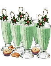 Mjölkshakeglas/amerikansk diner-lemonadglas, 340 ml, 6 stycken