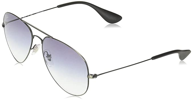 93d5dddd35 Ray-Ban 3558 Aviator anteojos de sol, Antique Black/Black Grey Gradient,
