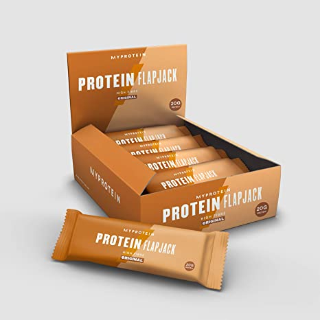 MyProtein Barras y Bebidas Nutritivas, Sabor Avena Tradicional - Paquete de 12 x 80 gr