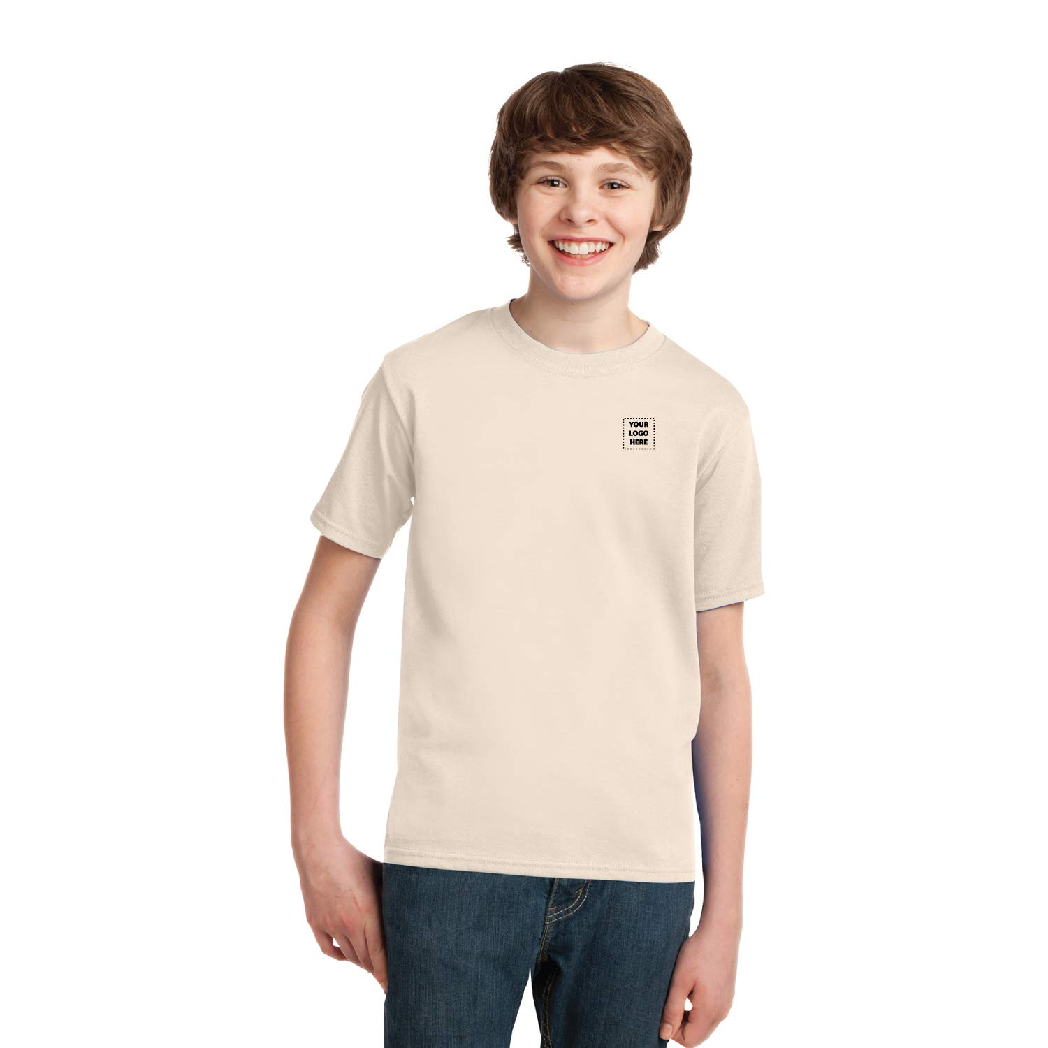 Youth Essential Tee - 24 Qty - 7.84 Each - Promotional Tee with Your Custom Logo Bulk