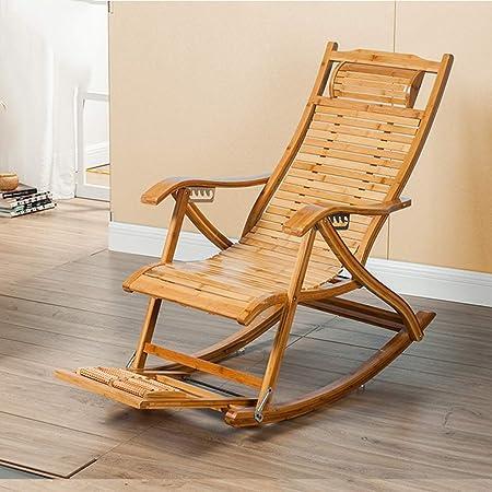 Progetto Sedia A Dondolo.Wwpoa A Sedia A Dondolo Singola In Bambu Pedana Di Massaggio