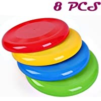 Agreatca 8 PCS FrisbeesFlying DiscFlying Saucer AssortmentFrisbee PlasticDog FrisbeeGolf DiscsUltimate Frisbee Disc