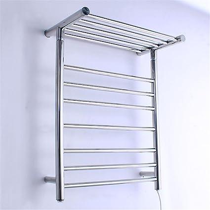 Inteligente Temperatura constante Acero inoxidable Toallero eléctrico con calefacción barra de toalla