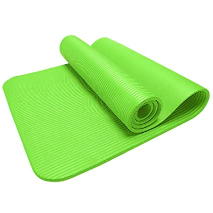 15MM Thick Non Slip Yoga Mat Exercise Fitness Pad Mat for Exercise Workout Fitness Physio Gym Cushion (Green, Size: 183cm x 61cm x 1.5cm)