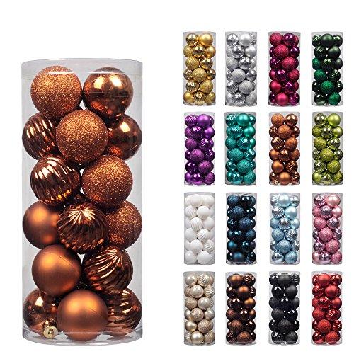 KI Store 24ct Christmas Ball Ornaments Shatterproof Christma