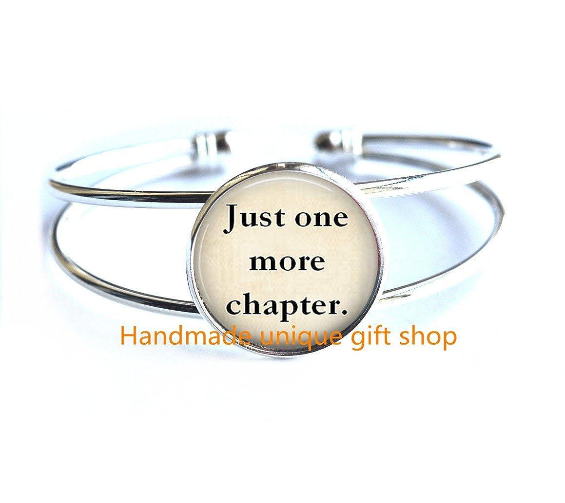 Charm Bracelet Fashion Bracelet Dainty Bracelet,Just One More Chapter Book Jewelry Book Bracelets Keep Literary Bracelet Library Jewelry Book Lovers-RC375