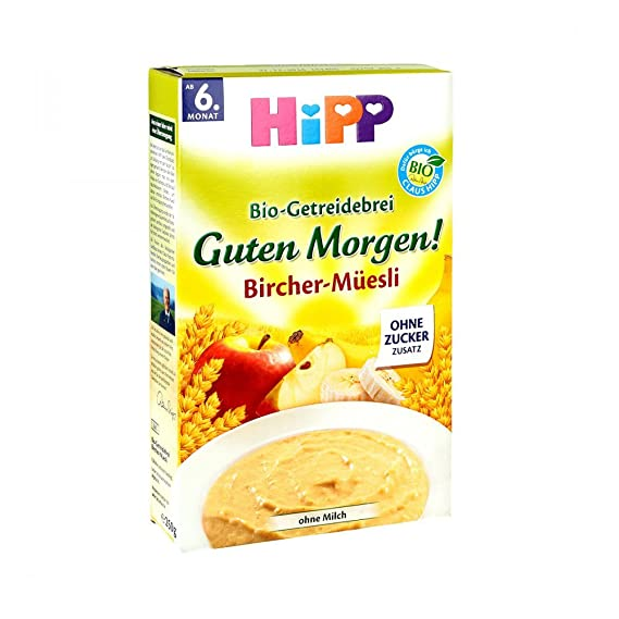Hipp Orgánico y cereales buena papilla por la mañana Bircher Muesli 250g