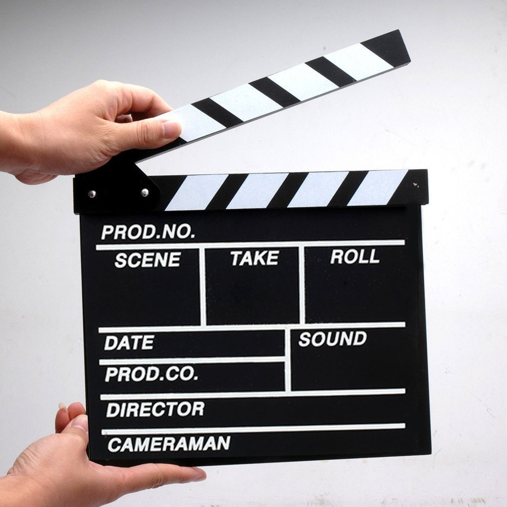 LiCHY Film TVshow Cut Action Wooden Movie Clapboard Theater Party Decoration