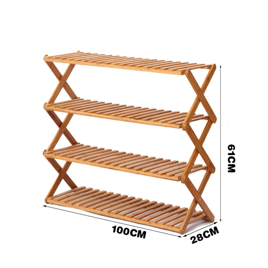 M shoes Rack Free Inssizetion Folding shoes Rack Simple Solid Wood Multi-Layer shoes Cabinet Multifunction dust-Proof Economic Type Dorm Room Household,N