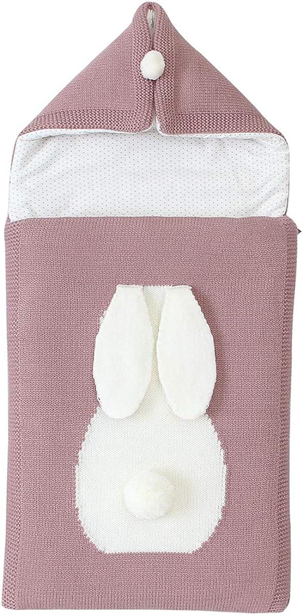 Borlai Saco de Dormir para Bebés Saco de Dormir para Recién Nacidos Envoltura de Manta de Cochecito para Bebés de 0-12 Meses