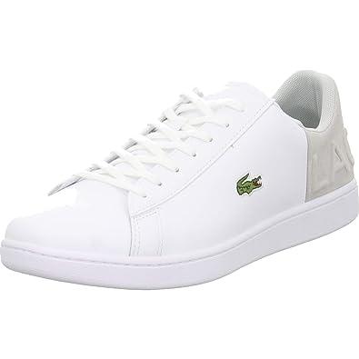 5df8178d097993 Lacoste Mens Trainers White Size  7 UK  Amazon.co.uk  Shoes   Bags