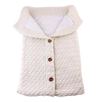 Winter Newborn Baby Boy Girl Blanket Knit Crochet Warm Swaddle Wrap Sleeping Bag