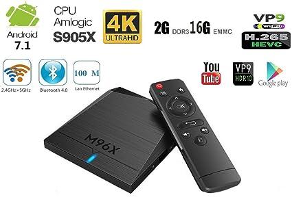 90642f87aa4b Smart Android 7.1 TV BOX with Amlogic S905X 64 Bits   2GB RAM 16GB ROM