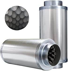 VIVOSUN 6 Inch Noise Reducer Silencer for Inline Duct Fan