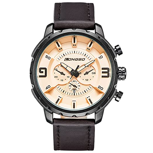 Relojes Deportivos analógicos Digitales para Hombre Big Face Relojes Relojes Deportivos de Lujo con Correa de