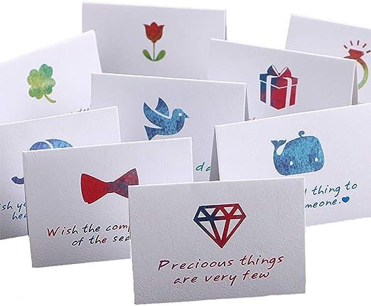Ogquaton Pack de 6 Tarjetas de felicitación de Feliz cumpleaños, 6 diseños Coloridos de Estilo Moderno manuscrito: Amazon.es: Hogar