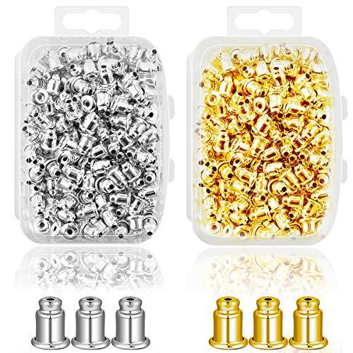 Ear Backs Supplies - Metal Ear Nuts Bullet Safety Cluth Earring Stopper Replacements for Ear Hook Ear Post Studs Pierced ()