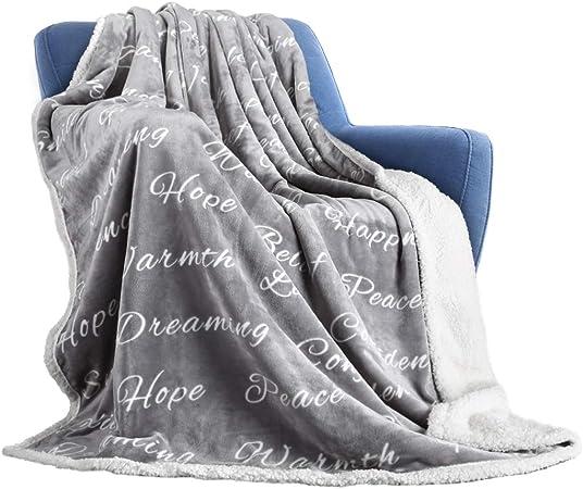 Bedsure Polaire Couvertures Couvre-Lit King Size Argent Gris-de luxe extra grand lit