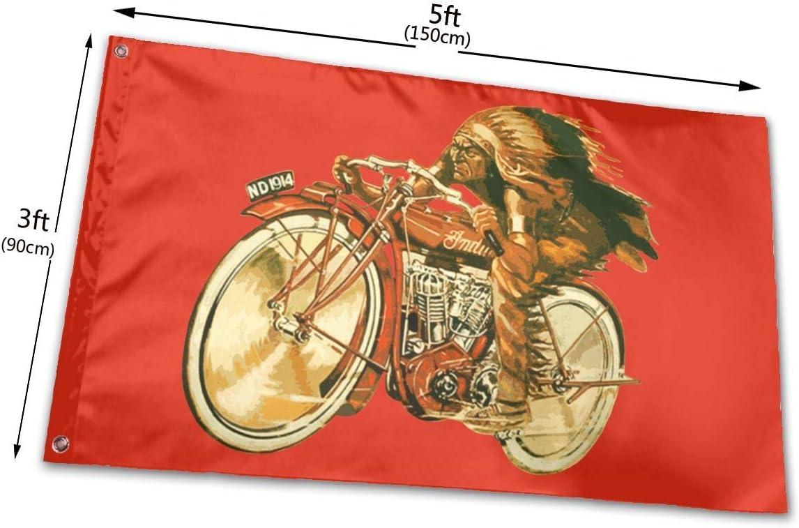 WBinHua Drapeaux 3x5 Foot Motorcycles Indian Moto Flag