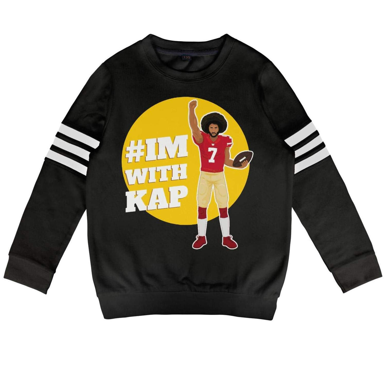 Skrchaa Toddler Children Hoodies Colin-I am with kap-Kaepernick 7 Soft O-Neck