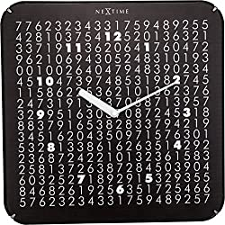 Unek Goods NeXtime Labyrinth Dome Wall Clock | 13.8 Square | Glass | Black | Battery Operated