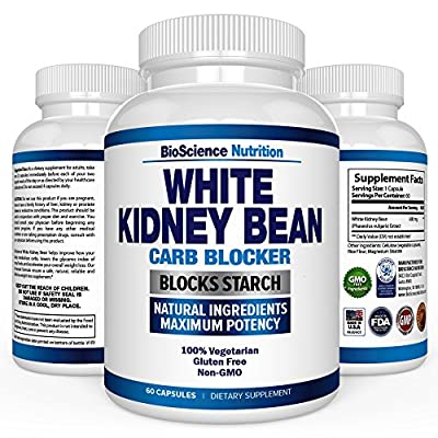 White Kidney Bean Extract - 100% Pure Carb Blocker and Fat Absorber for Weight Loss - Intercept Carbs – BioScience Nutrition
