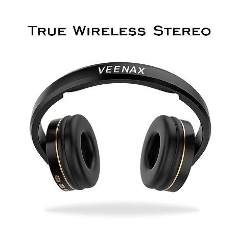 veenax bt1610 On-Ear Auriculares inalámbricos Bluetooth, Batería Plegable con micrófono Integrado para teléfono móvil y Dispositivos Bluetooth: Amazon.es: ...