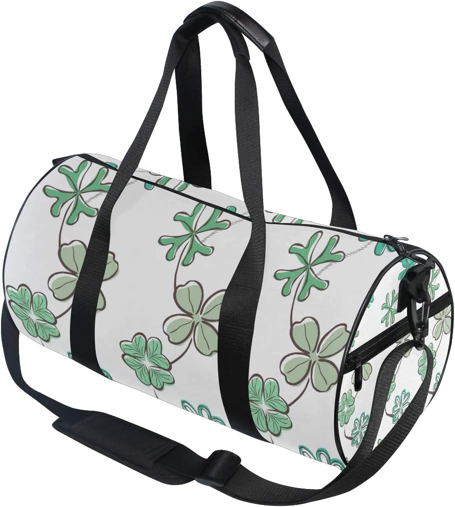MALPLENA Pretty Clover Painting Drum gym duffel bag women Travel Bag