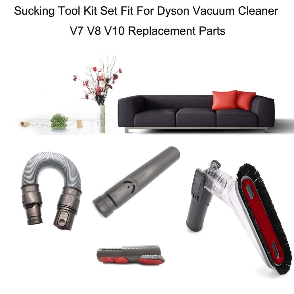 ❤SU&YU❤Sucking Tool Kit Set Fit for Dyson Vacuum Cleaner V7 V8 V10 Replacement Parts Black