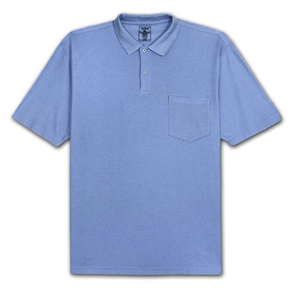 Fox Fire Mens Fire Solid Pocket Pique Polo Shirt