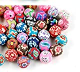 Perfect Shopping 150 Colorful Polymer Clay Beads Assorted Colors,8mm