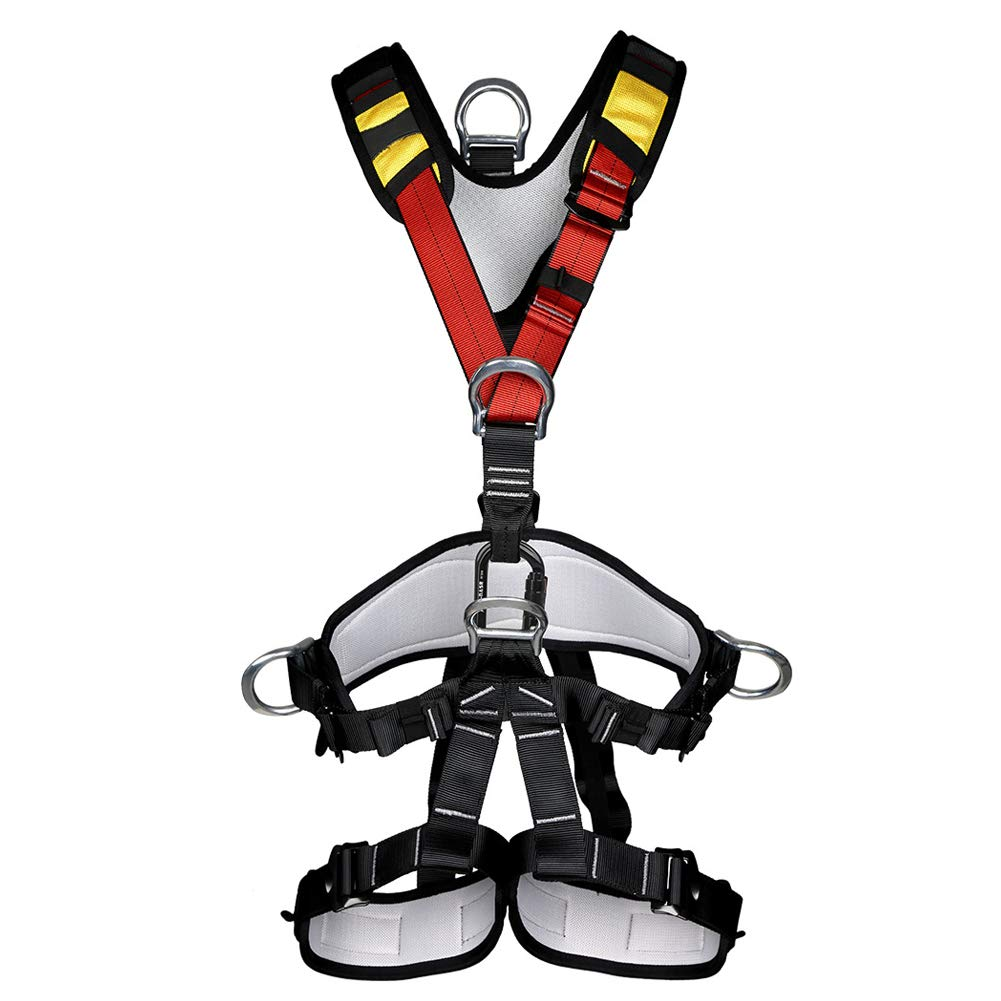 Climbing Safety Belt fire Rescue high Altitude School Operation Rock Climbing Rock Climbing Rappelling Equipment Body Protector Protection by HENRYY (Image #1)