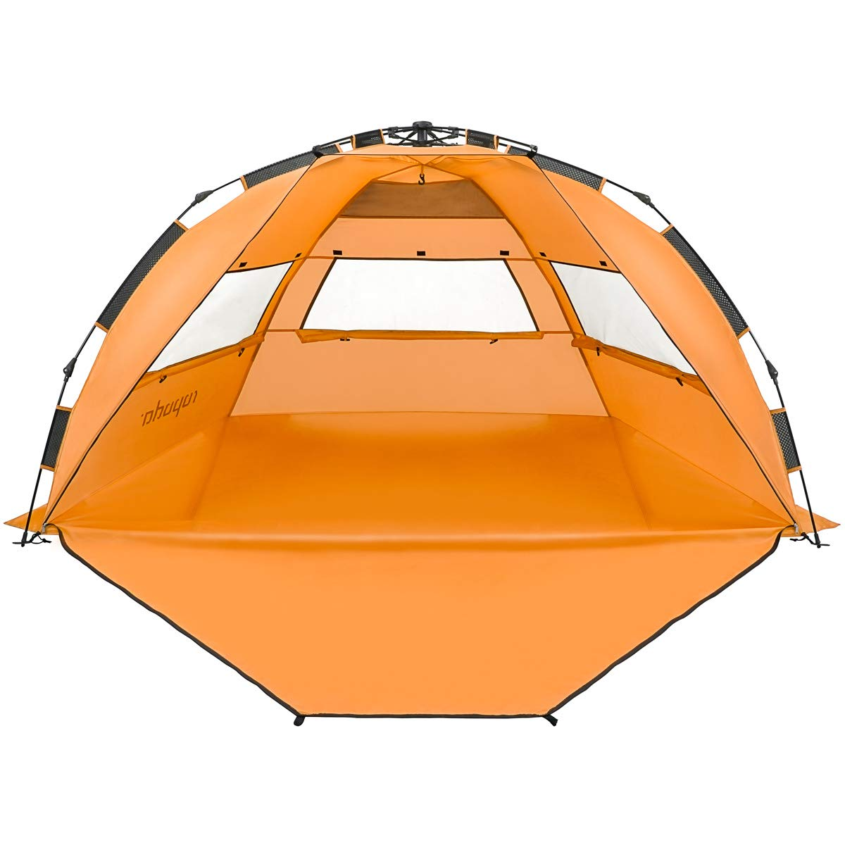 ROPODA  Pop Up Beach Tent - Easy to Set Up, Portable Beach Shade with UPF 50+ UV Protection for Kids & Family (Orange) by ROPODA