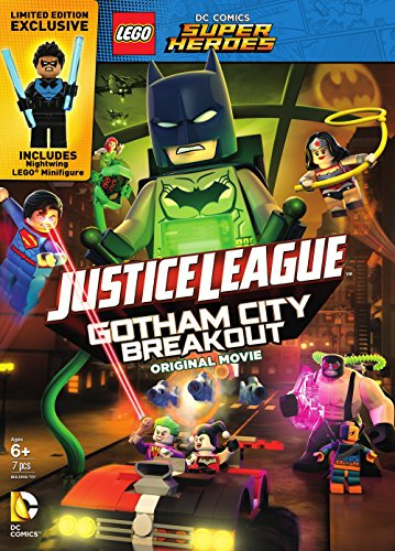 DVD : LEGO DC Comics Super Heroes: Justice League - Gotham City Breakout (Gift Set, Dolby, AC-3)