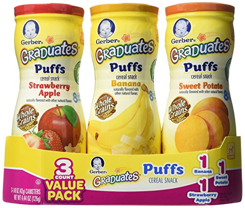 Gerber Graduates Puffs - Variety Pack - 1.48 oz - 6 pk( 2 of each flavor)
